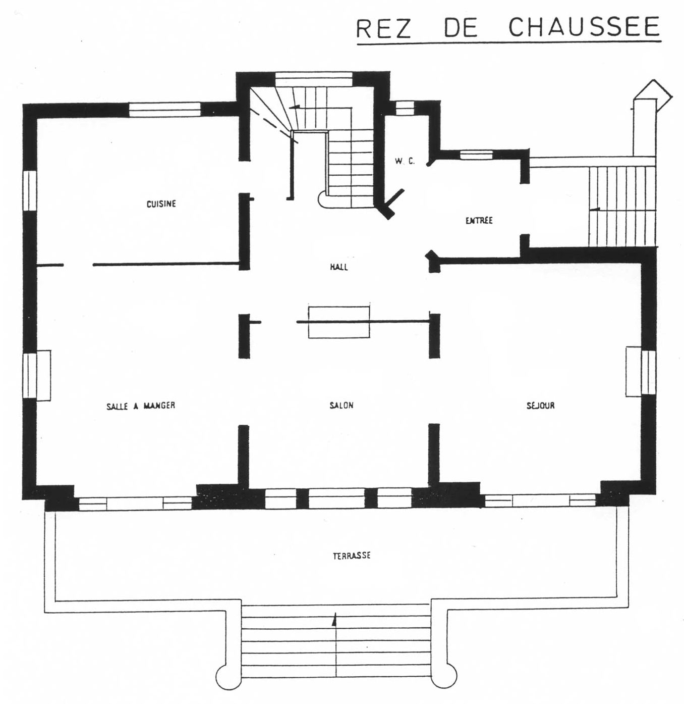 La villa la hubloti re villa berthe for Plan de maison interieur